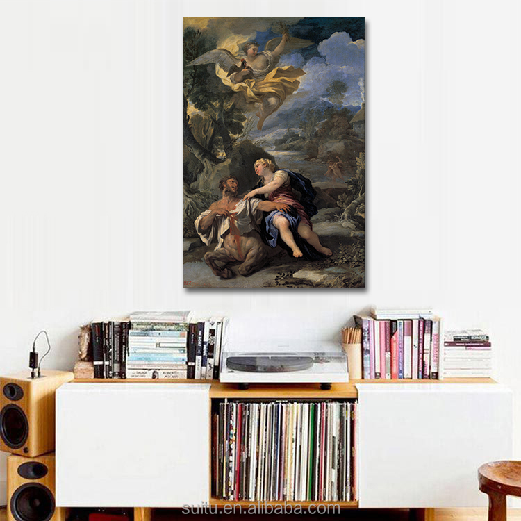 Hot Photo Canvas Oil Painting Women Sex With Animals Centaur Wall Painting For Home Decor