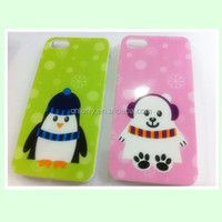 Christmas 3D mobile phone cover case for iphone 4,5