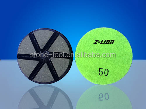 80MM Ceramic Bond polishing pads for marble / granite / concrete