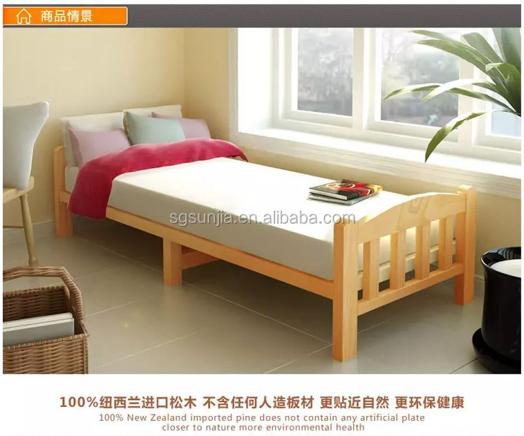 SJBED1706 Commercial Paint Pine solid wood Bed reclaimed wood beds