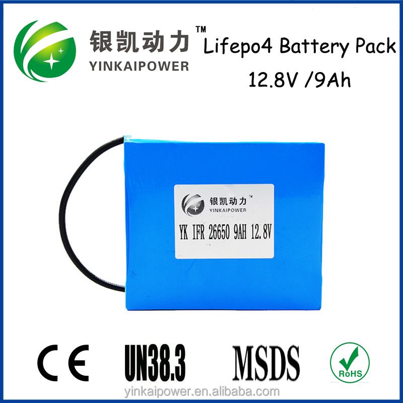 EV, Golfcar, Segway 12V 9AH LiFePO4 Battery 12V lithium battery pack with UL standard in spanish market