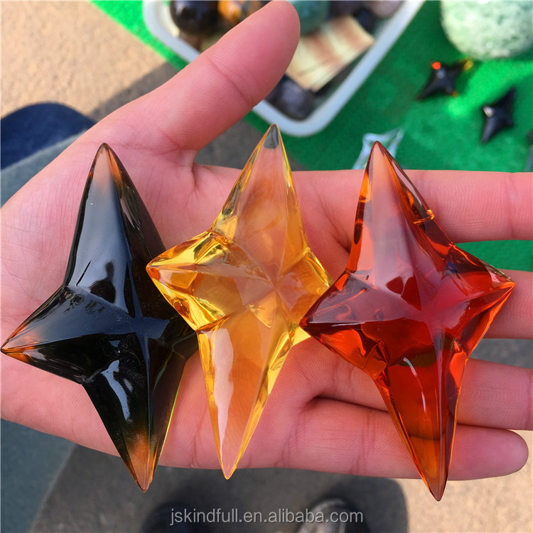 Wholesale Artificial K9 Colourful Crystal Cross Star Ornament Hanging Star for Wedding favors Children Room decoration