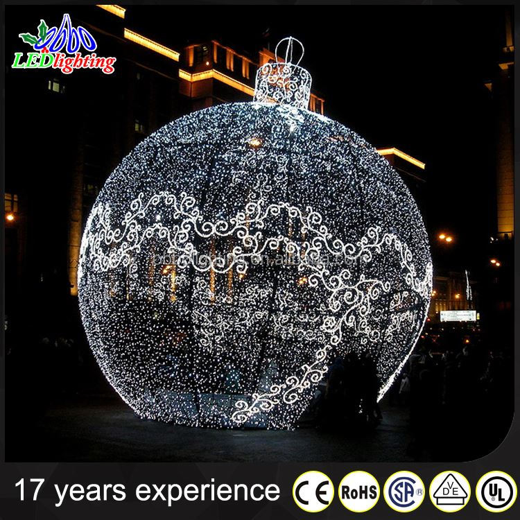 3d white hanging tinsel ball light light up outdoor christmas decorations