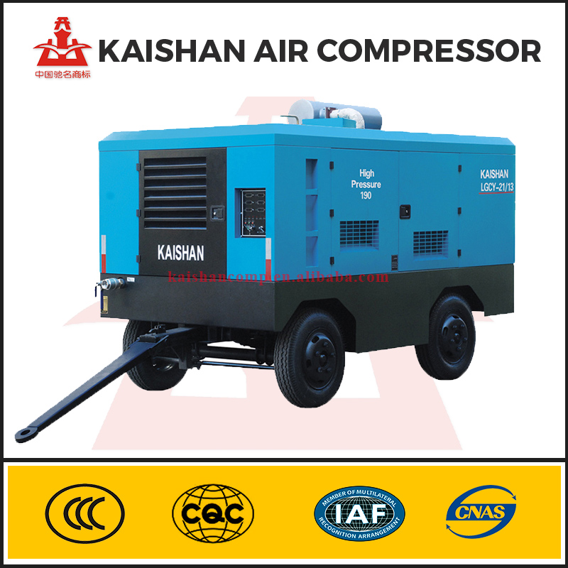 China Factory Diesel Portable 350 Psi 8kg Screw Air Compressor