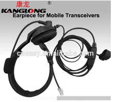 Cheaper KangLong KL-789 Headset microphone noise cancelling monaural headphone for car transceiver radio