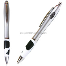 2014 novelty promotional cheap metal clip click ball pen