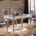 luxury furniture gold - solid wood Handwork Grinding classic dining table
