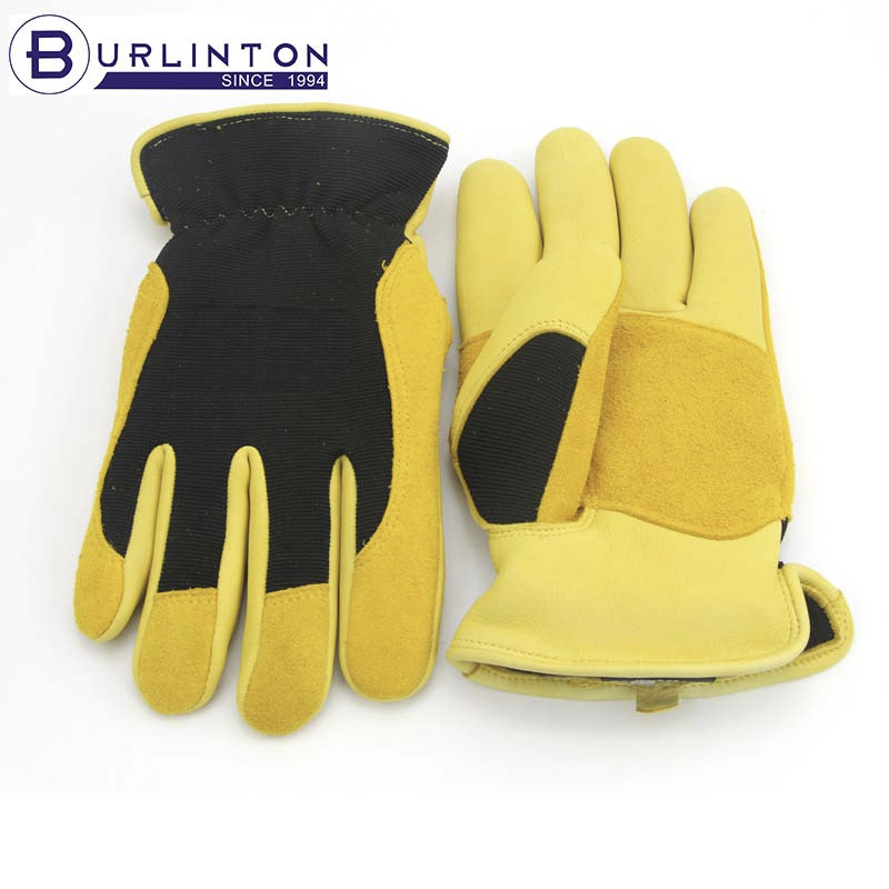 Swede palm wear resistant winter garden glove leather