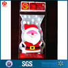 Special shaped santa claus bags Christmas plastic treat bags