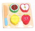 Cutting fruit wooden toy set for education,Funny DIY kitchen toys,Cutting fruit wooden toys