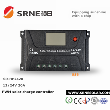 20A SRNE Solar Charge Controller 12V/24V DC PWM Battery Regulator 150V PV