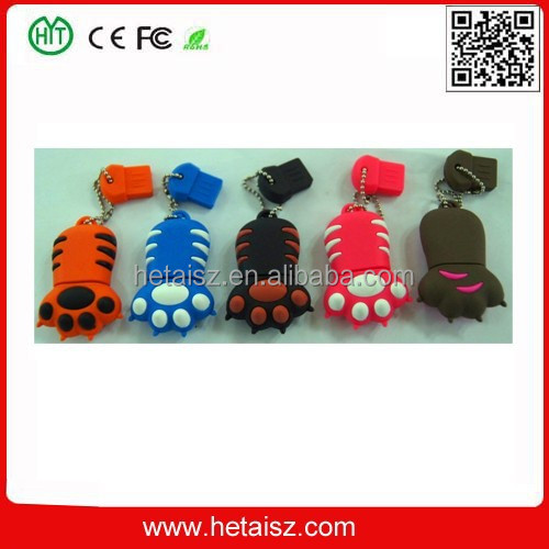 PVC cat paw man usb stick 2tb, claw usb, claw 500gb usb flash drive