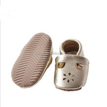 Hard sole leather toddler shoes baby oxford shoes with Kids shoes 2017