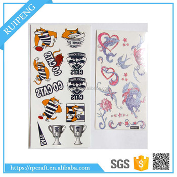 Off-set Printing Water Transfer Full Colors Tempoary Tattoos
