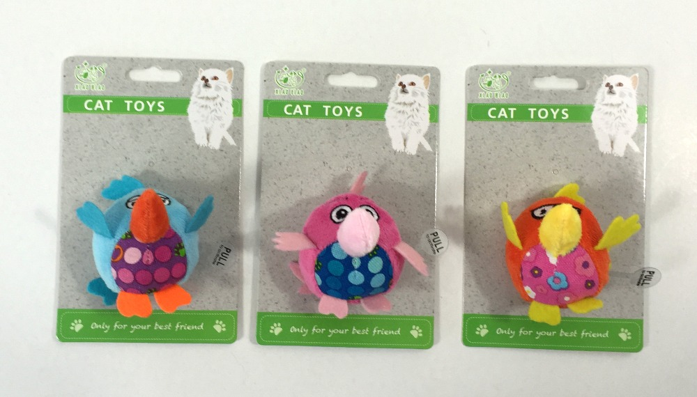 Lanbiao custom A plush animal toys with Electronic Musical Instruments for cat pet toys supplies