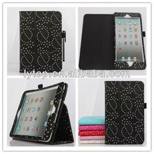 leather bling Case for iPad mini 1 2 3, bling diamond tablet case for ipad mini 1 2 3