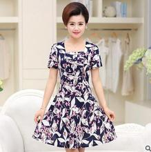 Korean style women new print casual dress wholesale summer fashion dress