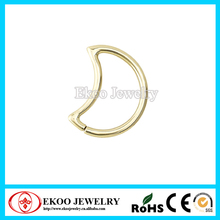 Stainless Steel Gold Anodized Daith Moon Tragus Earring Tragus Piercing Jewelry