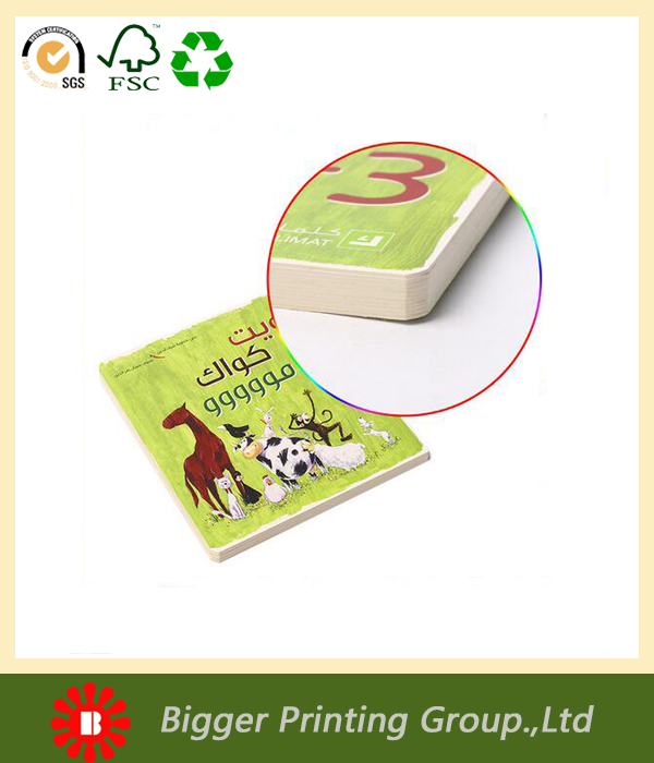 Full color mini book printing,round corner children book in Arabic language