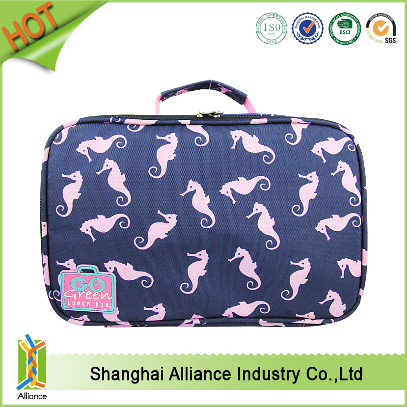 China Wholesale Cheap Promotional Polyester Mini Insulated Lunch Cooler Bags