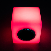 Hot selling waterproof portable mini bass cube speaker LED furniture with bluetooth speaker controlled by remote & phone