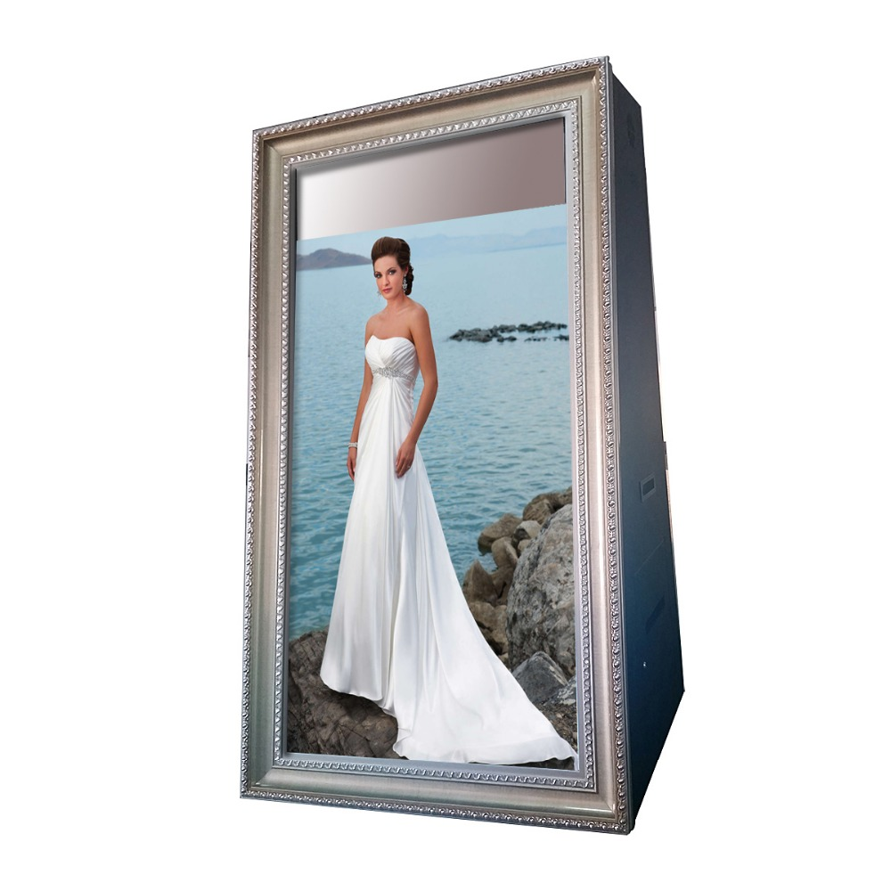 "55"" indoor touch screen mirror smart mirror with camera touchscreen spieltisch selfie mirror booth"