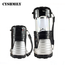 CYSHMILY Telescopic Emergency Lamp Solar Battery Portable Rechargeable USB Camping Lantern