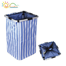 Factory supplier waterproof laundry products foldable customized laundry basket with handle