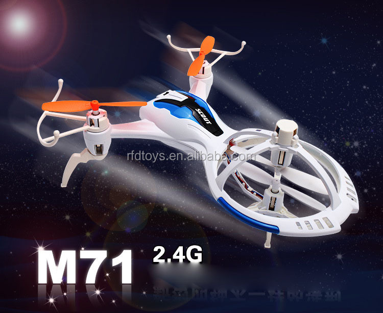 Skyteach M71 new arrive 2.4G 4ch mini rc quadcopter with light rc ufo fiying drones toy
