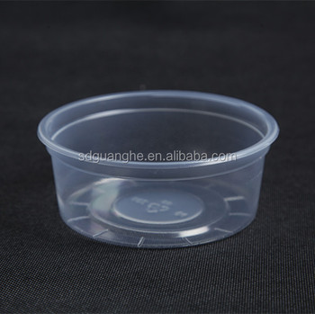 8oz disposable plastic pudding container with lids
