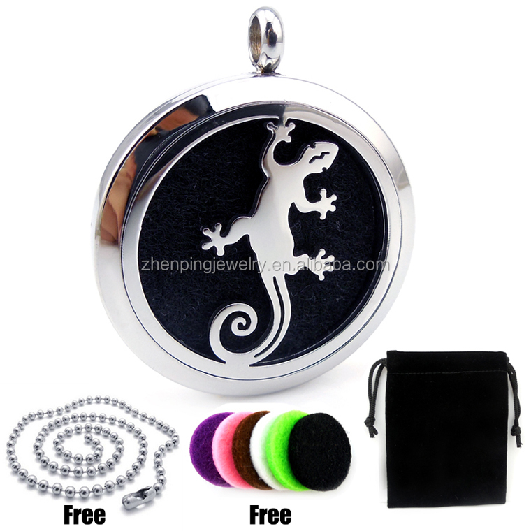 Fancy perfume locket 30mm magnetic 316L stainless steel diffuser locket