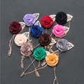 Badge Brooch With Chain Flower Lapel Pins For Custom