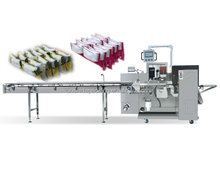 Box Motion Horizontal Packing Machinery for Potato Chip Snack 12 bags in 1 Package