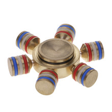 Copper Anxiety Autism Fidget Hand Five Quinary Spinner/Six Spinner EDC For Autism,ADHD hand spinner Toys