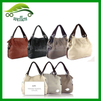 PU leather stitching shoulder bag, fashion brand Tote bag