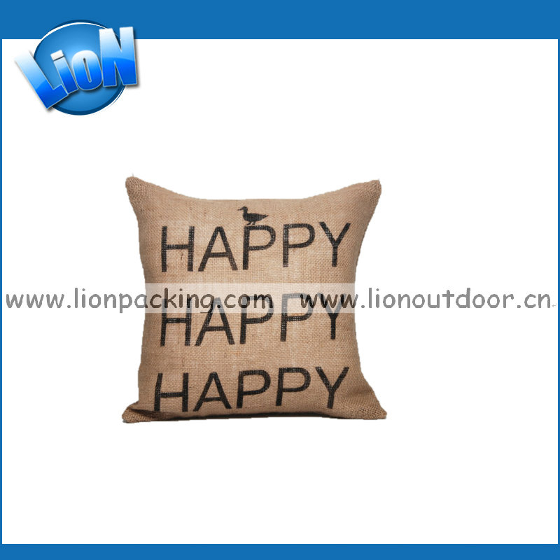 Home Decorative burlap gunny hemp hessian sack Pillow for now house