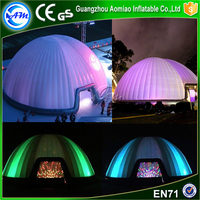 2017 New design inflatable planetarium tent wedding tent with led light