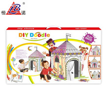 Wholesale kid educational toy 3D puzzle Circus Group doodle diy painting toy