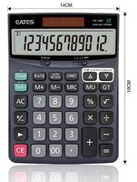 12 digits 112 Steps check correct TAX electronic finance desk calculator