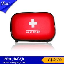GJ-2600 PU Material Red Eva first aid bag