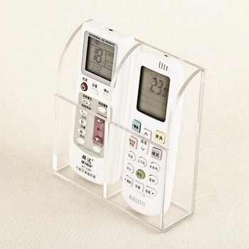 Acrylic Clear Remote Control or TV Cable Wall Holder Stand Display