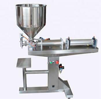 Pneumatic condensed milk mineral water filling machine/floor type can sit dow organic fertilizer filling machine