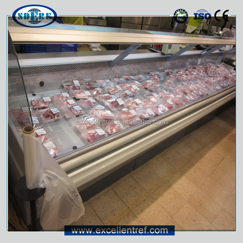 butchery equipment service counter refrigerator freezer for meat display