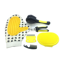 Pet Hair Removal Massage Glove For Dogs & Cats Grooming 2 in 1 Grooming Kit for Dogs Grooming Set