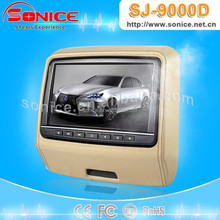 easy install 9 inch headrest dvd player with usb sd