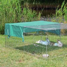 galvanized folding metal wire rabbit hutch pet cage with cover manufacturer