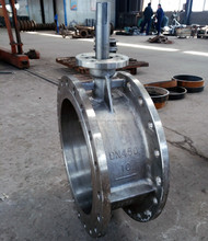 Silica sol casting bare shaft stainless steel butterfly valve