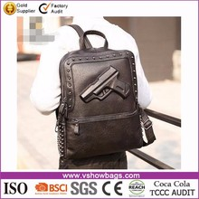3D PU leather Rucksack Backpack for men school travel Rucksack messenger Bag
