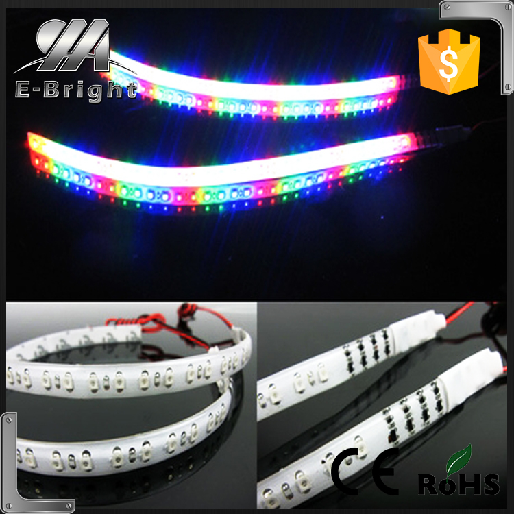 30cm 3528 Flexible 32 LED Knight Rider Lights Scanning Strobe flash LED Strip Lamps ,led strip 5050 running light strip