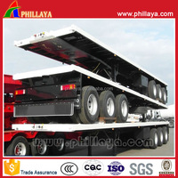 2016 hot sale twist lock optional transport container 40ft flatbed trailers